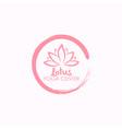 lotus flower yoga beauty center logo design vector image vector image