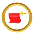 Matador red fabric icon vector image vector image