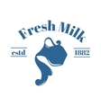 milk jug with text vector image