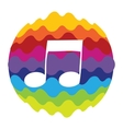 Music Rainbow Color Icon for Mobile Applications vector image vector image