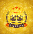 Octoberfest Celebration Retro Style Badge Template vector image