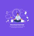 office worker meditating flat vector image vector image
