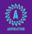 optical illusion aspiration logo in round moving vector image vector image