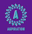 optical illusion aspiration logo in round moving