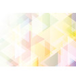 pastel gradient low poly background vector image vector image