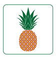 Pineapple with leaf icon color vector image vector image