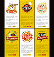 pizzeria italian recipes web vector image vector image