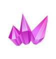 purple mineral crystal gem precious gemstone or vector image vector image