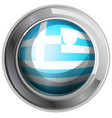 round badge with greece flag vector image vector image
