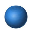 rubber blue ball - modern realistic vector image vector image