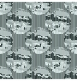 seamless pattern abstract circles vector image vector image