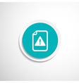 Security warning in browser icon alert bug vector image vector image