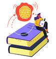 self education and knowledge obtaining reading vector image