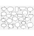 set comic speech bubbles vector image vector image