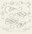 set of art calligraphy flourish vintage decorative vector image vector image