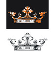 silhouette heraldic crown retro monogram vector image