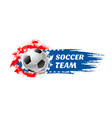 soccer sport game team football ball icon vector image vector image