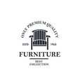 soft furniture lable vector image vector image