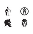spartan helmet logo template icon design vector image vector image