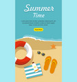 summer vacation and tourism vector image
