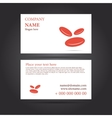 Template business card for medicine vector image vector image