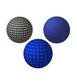 three balls vector image