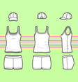 Top cap and shorts set vector image vector image