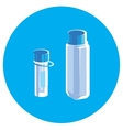 Two Chemical beakers vector image vector image