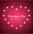 valentine s day - light vector image