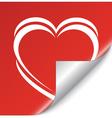 valentine sticker vector image vector image