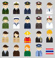 Various Thai People and Officer Character Icons vector image