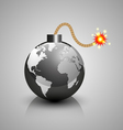 World crisis bomb icon vector image vector image