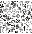 world religions symbols icons gray seamless vector image vector image