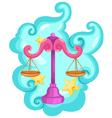 Zodiac signs - Libra vector image