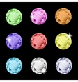 Collection of multicolored rhinestones vector image