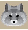Gray low poly fox vector image