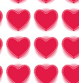 Pink heart seamless pattern on a white background vector image