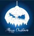 a silhouette christmas background vector image vector image