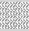 abstract geometric background with cubes in white vector image vector image