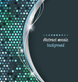 Abstract mosaic background with wave vector image vector image