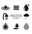 abstract water drop symbols set creative vector image vector image