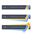 air conditioning set symbol vector image