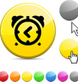alarm-clock glossy button vector image vector image
