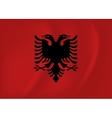 Albania waving flag vector image