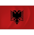Albania waving flag vector image vector image