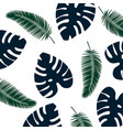 background tropical leaves pattern blue and green vector image vector image