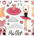 Ballet colorful pattern vector image vector image