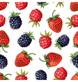 berry pattern vector image vector image