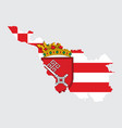 bremen map flag with coat arms city vector image vector image