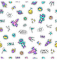 bright space objects background vector image vector image